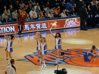 New York Knicks -liput - cheerleaderit