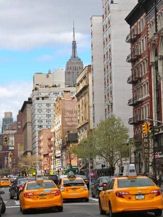 Takseja ruuhkassa New Yorkissa