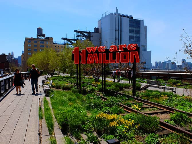 Puistot New Yorkissa - High Line Park