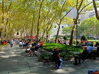 Puistot New Yorkissa - Bryant Park Terrace