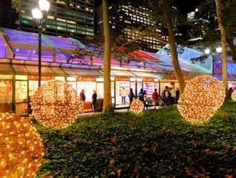 Torit New Yorkissa - Bryant Parkin joulukoristeet