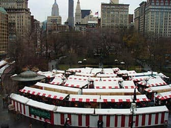Torit New Yorkissa - Christmas Market Union Square