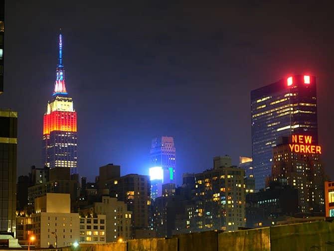 4th of July -itsenäisyyspäivä New Yorkissa - Empire State Building