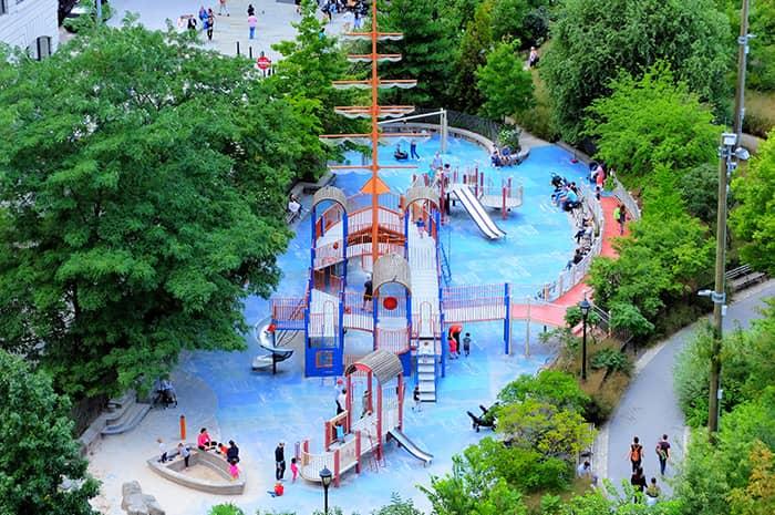 Leikkipuistot New Yorkissa - Pier 1 leikkikentta