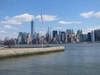 Ellis Island New Yorkissa - nakyma Manhattanille