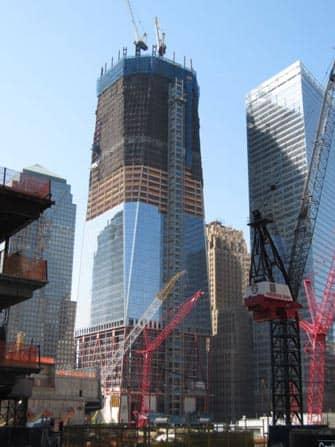 One World Trade Center New Yorkissa - rakennusvaihe