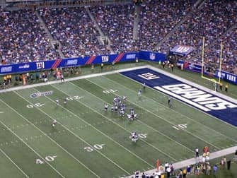 New York Giants -liput - ottelu New Yorkissa