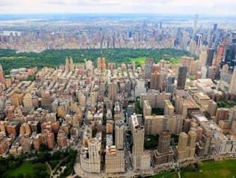 Helikopterilentojen reitit New Yorkissa - Central Park