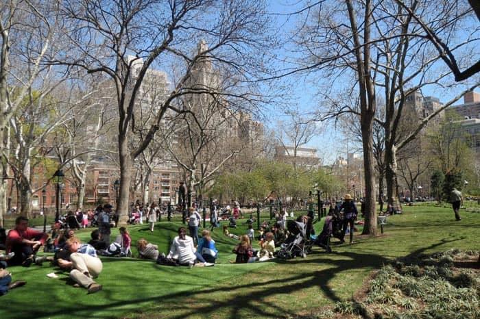 Washington Square -leikkipuisto New Yorkissa