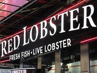 Ruokailu lasten kanssa New Yorkissa - Red Lobster