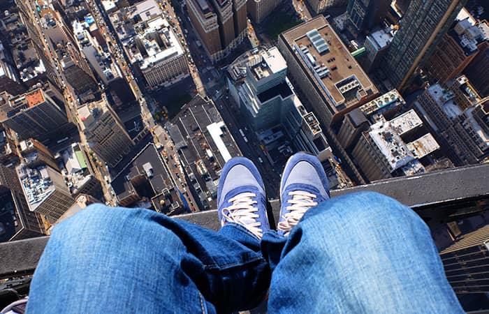 Helikopterilento ilman ovia New Yorkissa - kenkäselfie