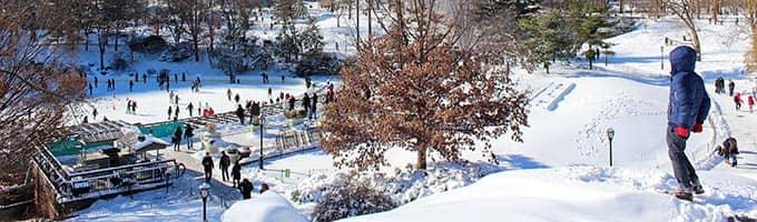 Täydellinen talvipäivä New Yorkissa