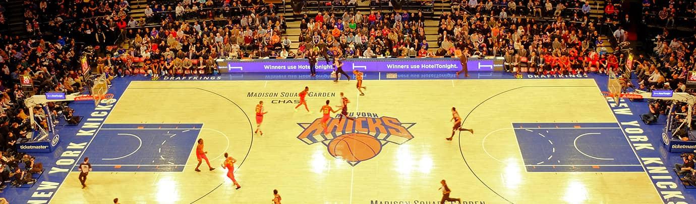 Koripallo-ottelu: New York Knicks
