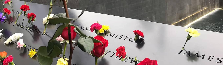 Tribute in Light 9/11 -muistomerkillä