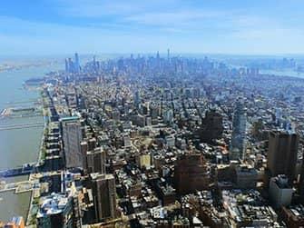 New York Sightseeing Flex Pass ja New York Explorer Pass -kaupunkipassien erot - One World Observatoryn näkymät